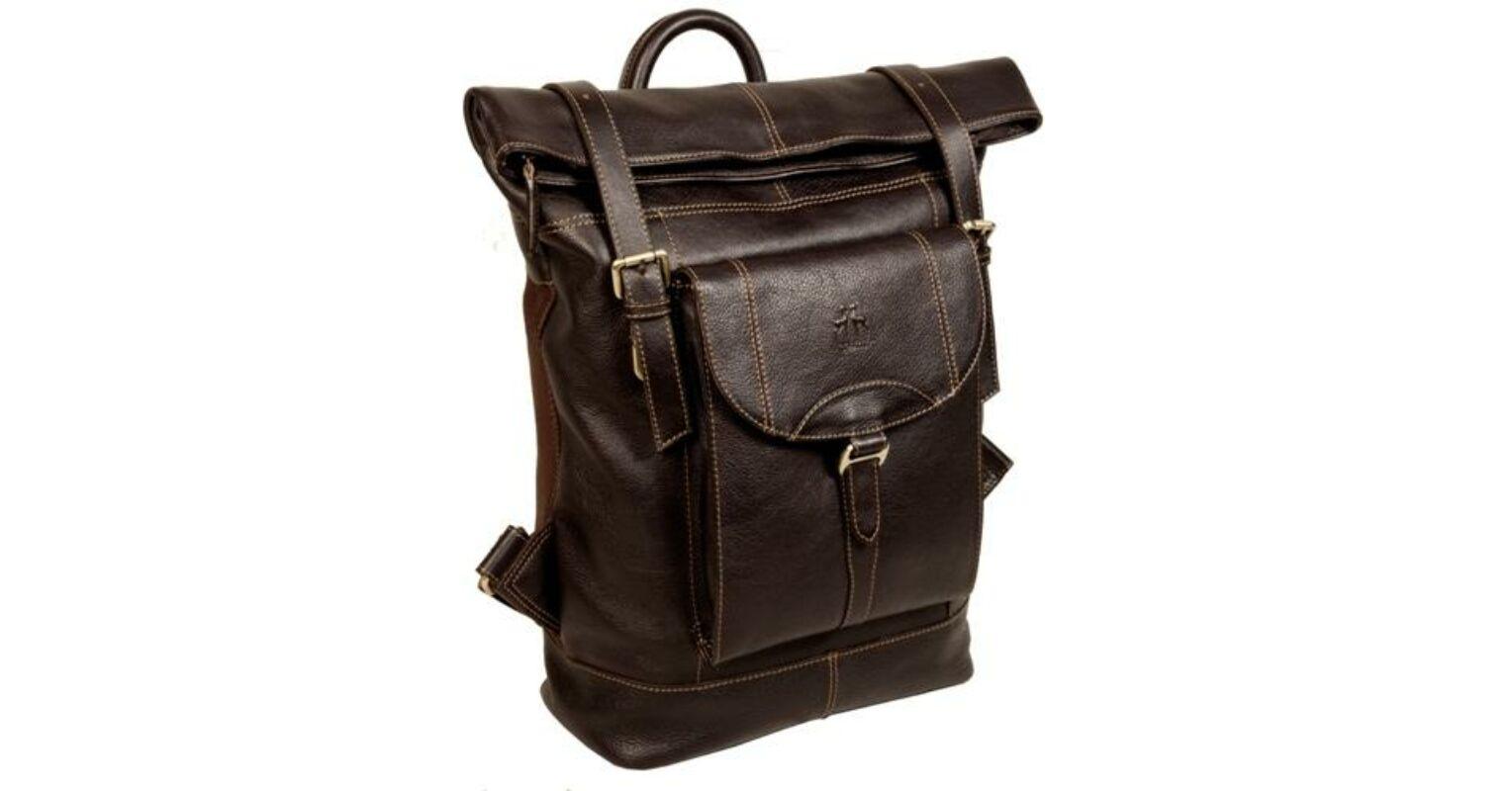 Rosme három csatos bőr hátizsák RO6013