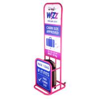LEONARDO DA VINCI 507 4 db-os bőrönd szett vattacukor pink színben