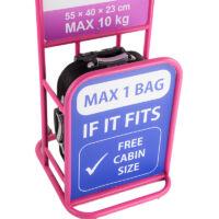 Bőrönd kabin méret RYANAIR méret 55 cm