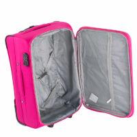 ORMI 3 db-os bőrönd szett pink színben