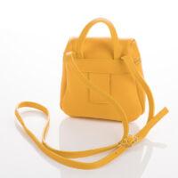 Valódi bőr női oldaltáska sárga színben