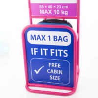 FENIX Bőrönd kabin méret ÚJ WIZZAIR méret+Ajándék TravelPlus rejtett övtáska