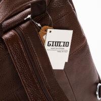 """GIULIO COLLECTION, Valódi bőr hátizsák konyakbarna színben"""""""