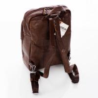 GIULIO COLLECTION, Valódi bőr hátizsák sötétbarna színben