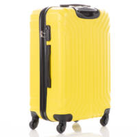 LEONARDO DA VINCI 507 4 db-os bőrönd szett pitypang sárga színben