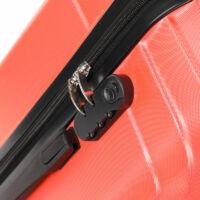LEONARDO DA VINCI 507 4 db-os bőrönd szett Korall színben*