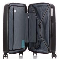 Bontour 3 db-os bőrönd szett Fekete színben Törhetetlen rugalmas anyagból