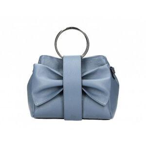 Valódi bőr női táska kék színben M9061 Cerulean