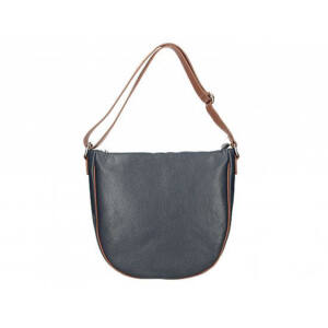 Valódi bőr női táska kék+barna színben S7186 Blue+Brown