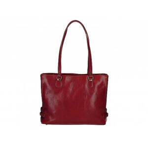Valódi bőr női válltáska sötétpiros színben S7195 Red