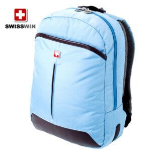 Swisswin laptoptartós hátizsák swc10010 kék AIR FLOW szellőző rendszerrel WIZZAIR méret