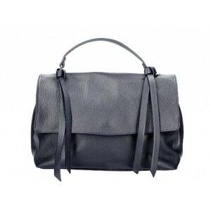 Valódi bőr női táska sötétkék színben M9058 BlueNavy