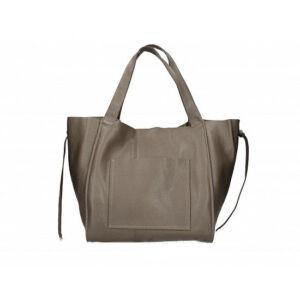 Valódi bőr női táska sötéttaupe színben S7177 DarkTaupe