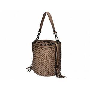 Valódi bőr női táska taupe színben S7234 Taupe