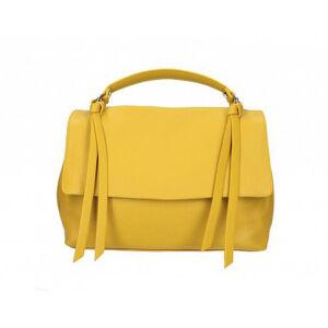 Valódi bőr női táska mustársárga színben M9058 Mustard