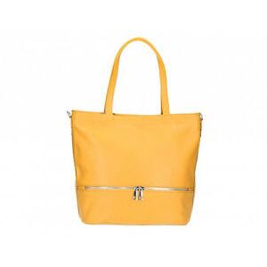 Valódi bőr női táska mustársárga színben S7191 Mustard