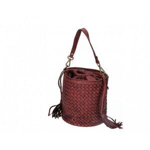 Valódi bőr női táska bordó színben S7234 Bordeaux