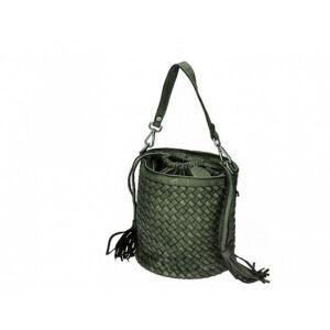 Valódi bőr női táska zöld színben S7234 Green