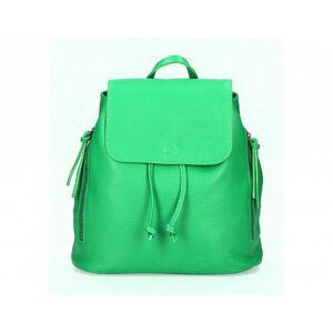 Valódi bőr női hátitáska zöld színben S7068 Green