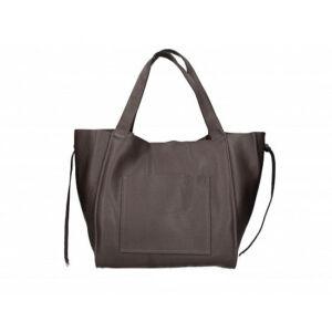Valódi bőr női táska sötétbarna színben S7177 DarkBrown