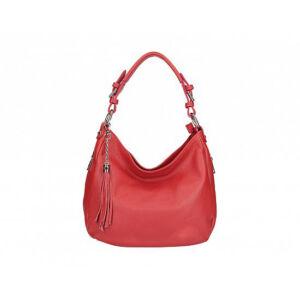Valódi bőr női táska piros színben S7164 Red