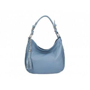 Valódi bőr női táska kék színben S7164 Cerulean