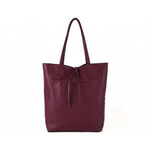 Valódi bőr női táska bordó színben S7080 Bordeaux