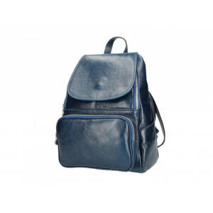 Valódi bőr hátizsák kék színben