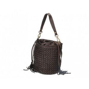 Valódi bőr női táska sötétbarna színben S7234 DarkBrown