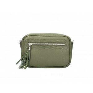 Valódi bőr női táska sötétzöld színben TR190 MilitaryGreen