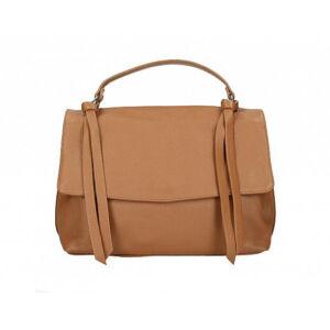 Valódi bőr női táska konyak színben M9058 Cognac