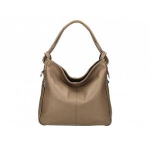 Valódi bőr női táska sötéttaupe színben S7093 DarkTaupe