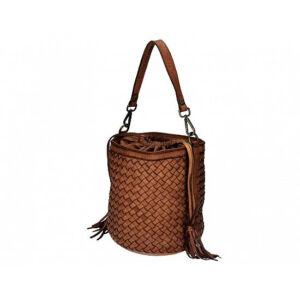 Valódi bőr női táska konyak színben S7234 Cognac