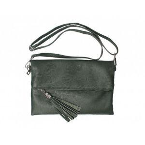 Valódi bőr női táska sötétzöld színben TR161 BottleGreen