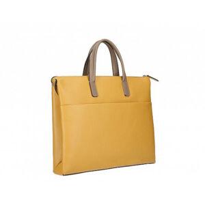 Valódi bőr üzleti táska Mustársárga színben C315 Mustar