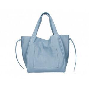 Valódi bőr női táska kék színben S7177 Cerulean