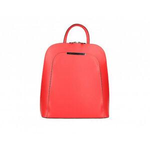 Valódi bőr női hátizsák piros színben S7127