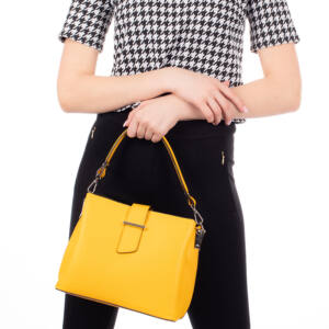 Valódi bőr női táska M9052 Sárga