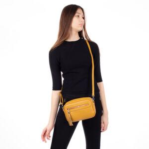 Valódi bőr női táska TR190 Sárga