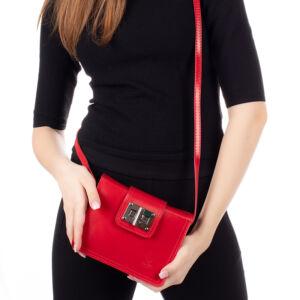 Valódi bőr női oldaltáska piros színben TR922 Red