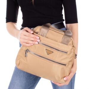 Többfunkciós bézs női táska