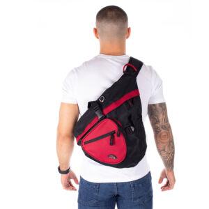 Adventurer Testtáska fekete-piros BT5555