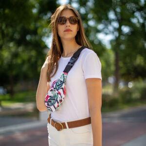 Mintás női divatos övtáska