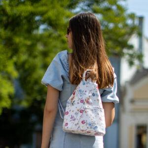 Virágos bőr női hátizsák 6925_flower