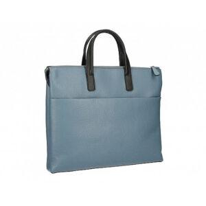 Valódi bőr üzleti táska Kék+Fekete színben C315 Cerulean+Black