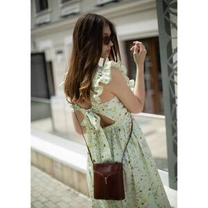 Fairy valódi bőr különleges minőségi női táska barna színben