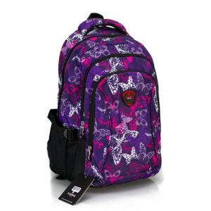 Aoking Hátizsák lila pillangó mintával