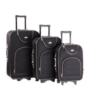 3 db-os bőrönd szett fekete színben