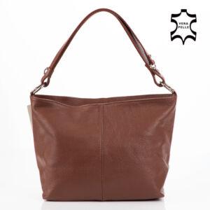 Valódi bőr női táska barna színben