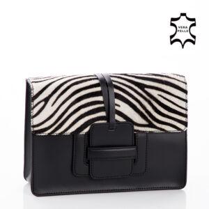 Valódi bőr női Táska Zebra mintával